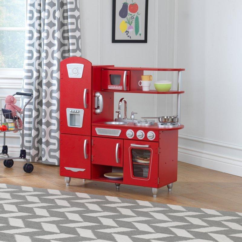 KidKraft Kuchnia dla dzieci Vintage Czerwona
