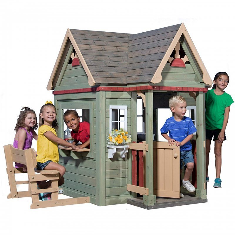 Drewniany domek ogrodowy dla dzieci Victorian Inn Backyard Discovery