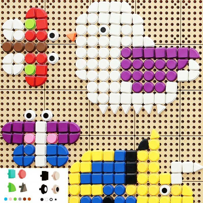MASTERKIDZ Geometryczne Elementy Tablic 256 szt