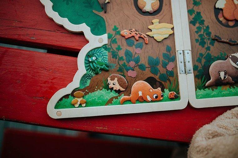 Układanka drewniana magnetyczna z 30 magnesami Drzewo, Janod