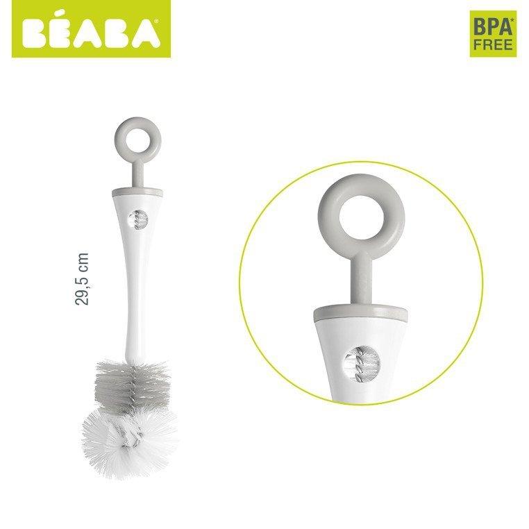 Beaba Szczoteczka do butelek i smoczków grey