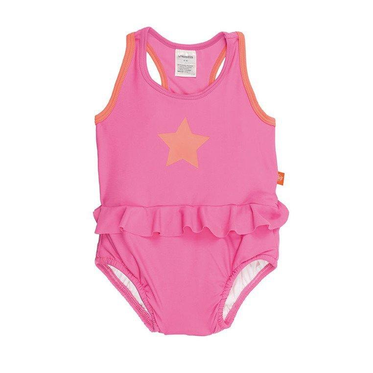 Lassig Kostium do pływania jednocześciowy z wkładką chłonną Light pink UV 50+ 6miesięcy