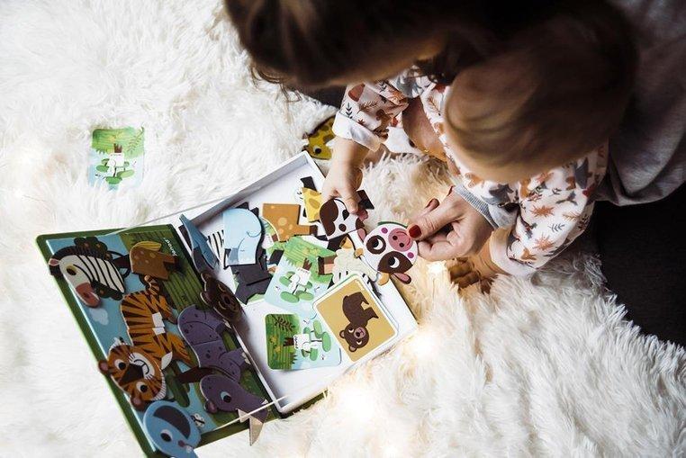 Magnetyczna układanka Zwierzęta www.tuliki.pl