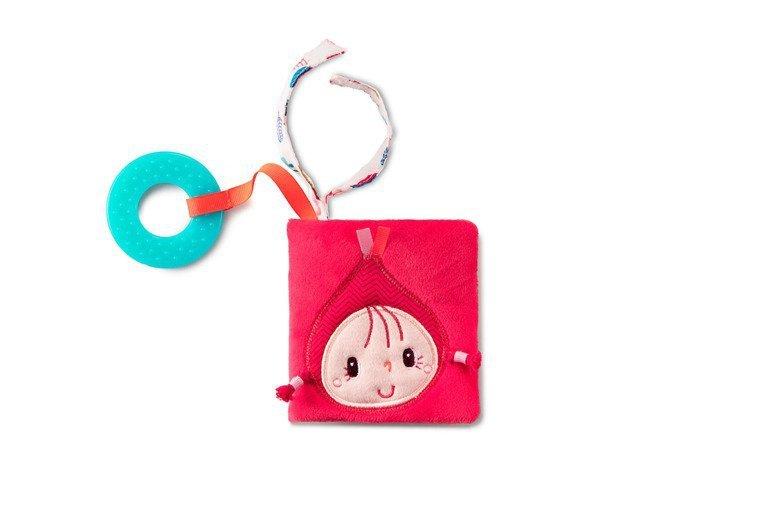 LILLIPUTIENS Mini-książeczka wielofunkcyjna z szeleszczącą folią i gryzakiem Czerwony Kapturek 6 m+
