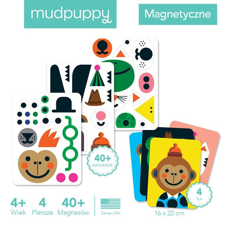 Mudpuppy Magnetyczne postacie Buźki 4+