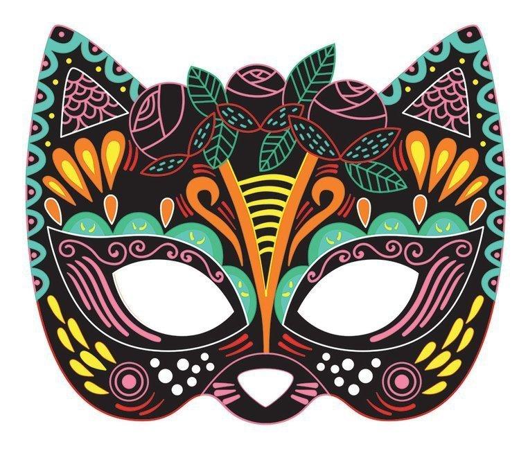 Zestaw kreatywny Do zdrapywania Maski karnawałowe 5+, Janod