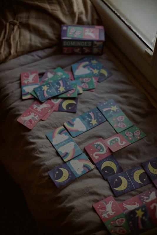 Mudpuppy Gra Domino Magiczne jednorożce 28 elementów 3-8 lat
