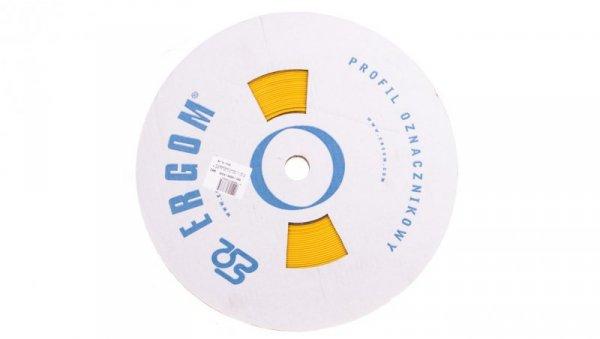 Profil PCV owalny do nadruku DPF 6,5/20 żółty E04ZP-04020400710
