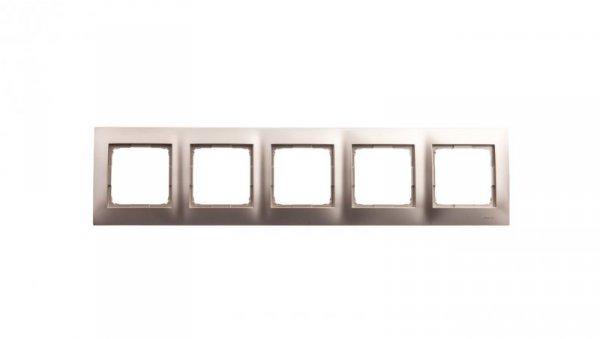 Simon 54 Premium Ramka pięciokrotna złoty mat DR5/44