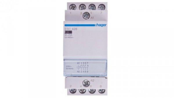 Stycznik modułowy 25A 3Z 1R 230V AC ESC428