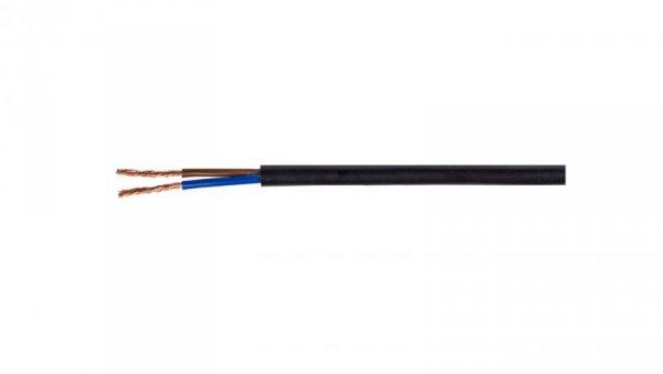 Przewód mieszkaniowy H03VV-F (OMY) 2x1,5 czarny 300/300V /100m/