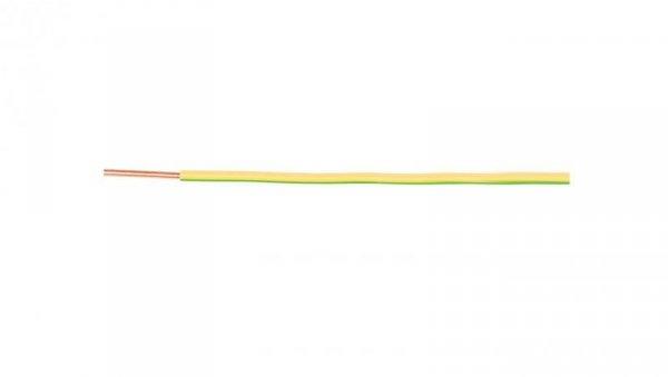 Przewód instalacyjny H05V-U (DY) 1,5 żółto-zielony /100m/