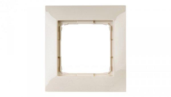 Simon 54 Premium Ramka pojedyncza kremowa /do karton-gips/ DRK1/41