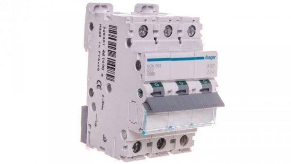 Wyłącznik nadprądowy 3P C 63A 10kA AC NCN363