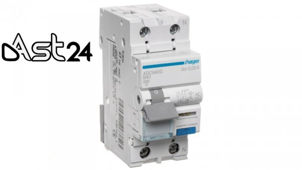 Wyłącznik różnicowo-nadprądowy 2P 40A B 0,03A typ AC ADC940D