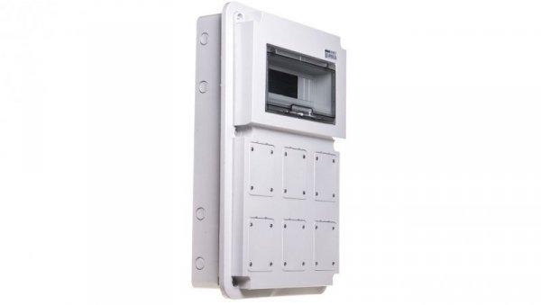 Obudowa zestawu zasilającego 6x16-32A 12 modułów z miejscem na zabezpieczenie IP44/67 GW68008 ELIT00711
