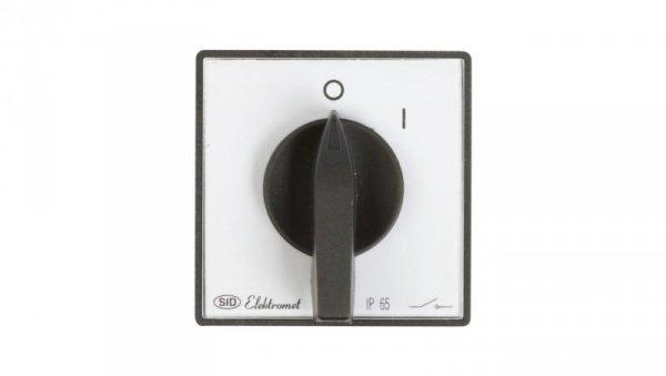 Łącznik krzywkowy 0-1 3P 16A IP65 Łuk E16-12 z płytką przednią 951601