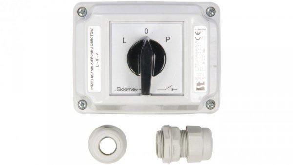 Łącznik krzywkowy L-0-P 3P 16A w obudowie ŁK16R-3.8368OB2
