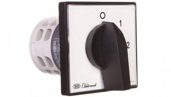 Łącznik krzywkowy 0-1-2-3P 25A IP65 z płytką Łuk E25-62 952561