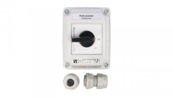 Łącznik krzywkowy 0-1 4P 16A w obudowie ŁK16R-2.8210OB2