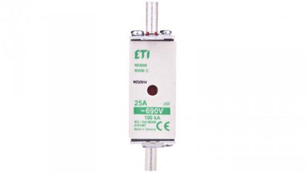 Wkładka bezpiecznikowa KOMBI NH00C 25A aM 690V WT-00C 004181407