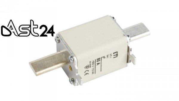 Wkładka bezpiecznikowa NH1 80A gF 500V WT-1 004139116