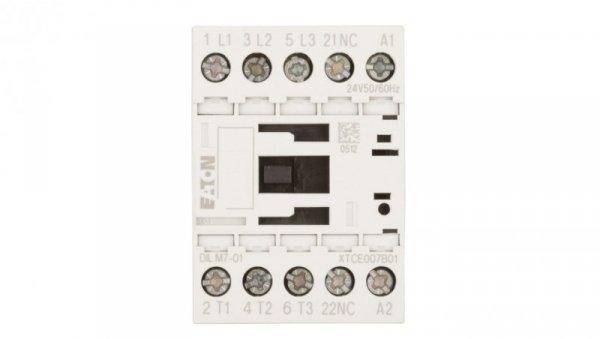 Stycznik mocy 7A 3P 24V AC 0Z 1R DILM7-01(24V50/60HZ) 276589