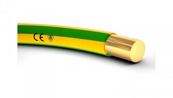 Przewód instalacyjny H07V-U (DY) 2,5 żółto-zielony /100m/