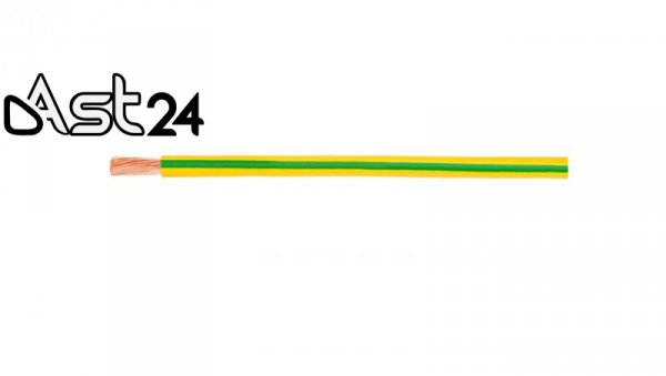 Przewód instalacyjny H05V-K (LgY) 0,75 żółto-zielony /100m/
