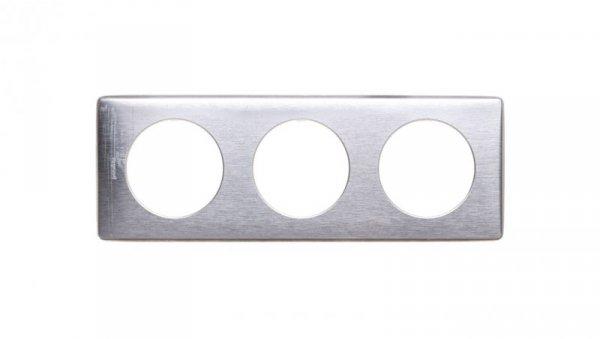 CELIANE Ramka potrójna uniwersalna aluminium anodowane 068923