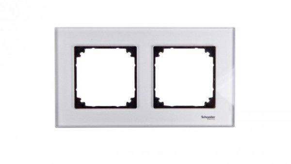 Merten M-Elegance Ramka podwójna szklana diamentowy srebrny MTN4020-3260