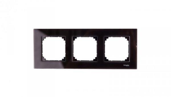 Merten M-Elegance Ramka potrójna szklana onyks MTN404303