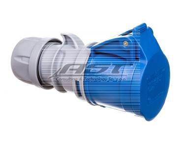 Gniazdo przenośne 16A 3P 230V niebieskie IP44 TURBO SHARK 213-6TT
