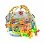 Mata edukacyjna 3w1 kojec basen zabawki piłeczki Ecotoys
