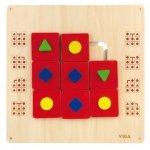 Drewniana tablica manipulacyjna układanka logiczna Viga