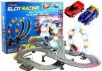 Tor Wyścigowy 2 Autka Slot Cars 1:43 Pętla Lampki