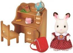 Sylvanian Families Zestaw z siostrą królików z czekoladowymi uszkami (biurko)