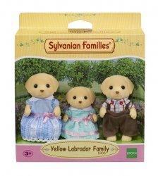 Sylvanian Families Rodzina biszkoptowych labradorów (Tata, Mama, Dziecko)