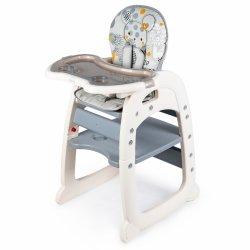 Fotelik krzesełko do karmienia 2w1 grey ECOTOYS