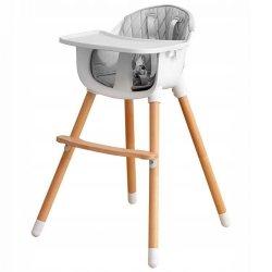 Drewniany  fotelik do karmienia 2w1 Ecotoys