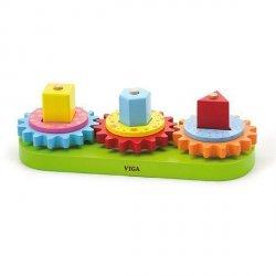 Edukacyjny sorter kształtów z zębatkami Viga