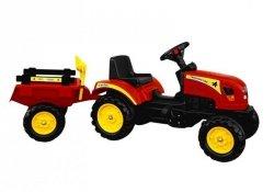 Traktor Branson z przyczepą czerwony na pedały 135 cm