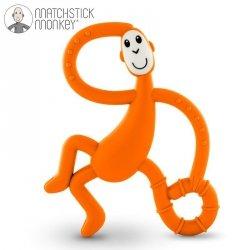 Terapeutyczny Gryzak Masujący ze Szczoteczką Matchstick Monkey Dancing Orange