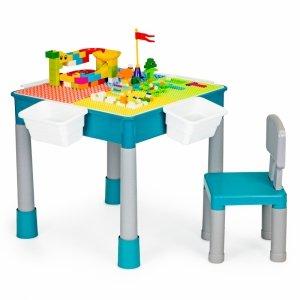 Stolik do zabawy krzesełko + klocki