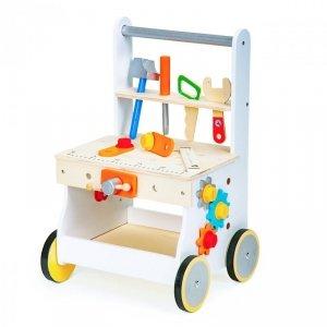 Drewniany pchacz wózek warsztat narzędzia Ecotoys