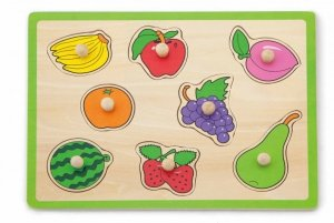 Drewniane puzzle - owoce Viga