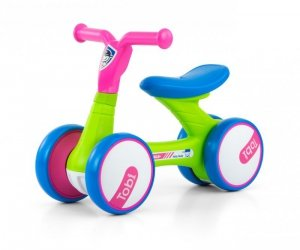 Jeździk rowerek biegowy Tobi Pink-Green Milly Mally