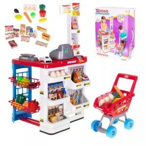 Supermarket sklep kasa fiskalna + wózek model 2