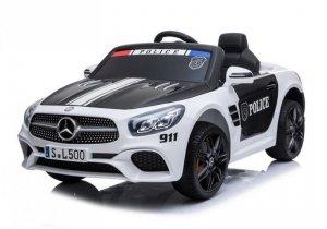 Auto na akumulator Mercedes SL500 Policja Biały