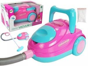 Odkurzacz dziecięcy różowo-niebieski dźwięk